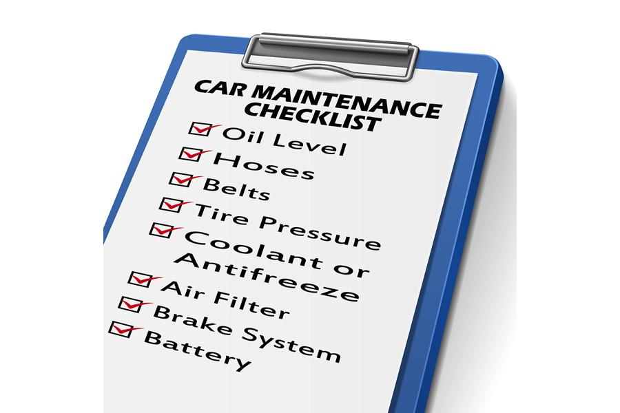 car repair checklist template