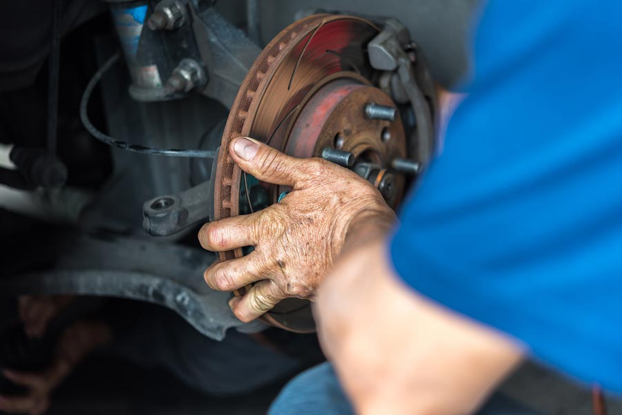 Bad rotors are usually replaced instead of being machined.