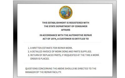 Car Repair Estimate Laws in State of California